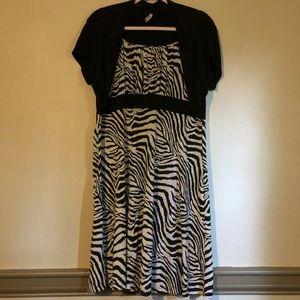 Zebra print Girls dress